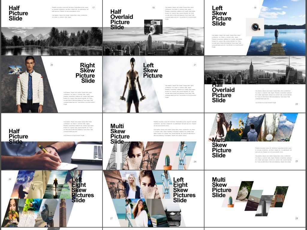 创意时尚旅游摄影画册品牌宣讲ppt模板图片