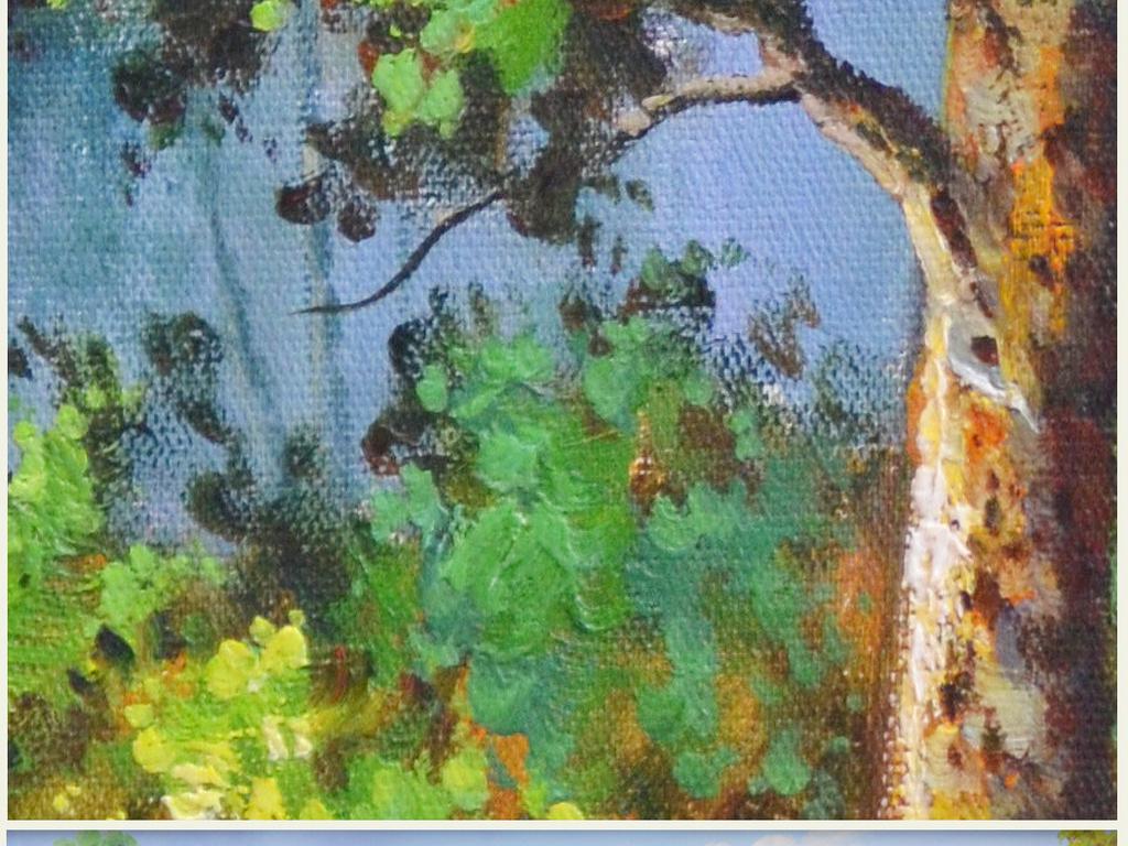 田园风景巨幅纯手绘高清油画艺术壁画