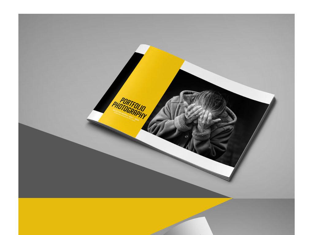 设计摄影作品集毕业手册psd模板(图片编号:15970365)
