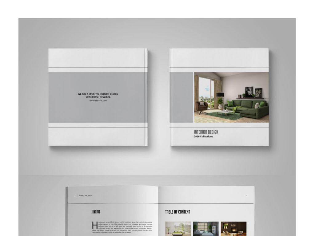 2017简约家居手册设计模板(图片编号:15970367)_企业