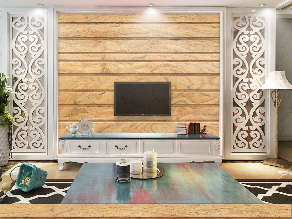 木纹木板背景墙(图片编号:15970534)