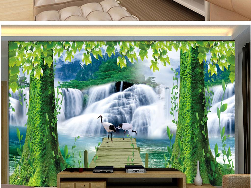 幼儿园壁画壁画图片3d壁画玄关背景壁画电视墙3d壁画