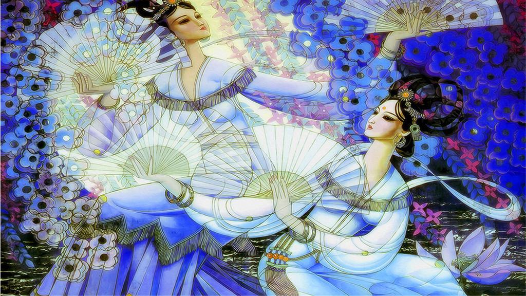 敦煌文化手绘图片
