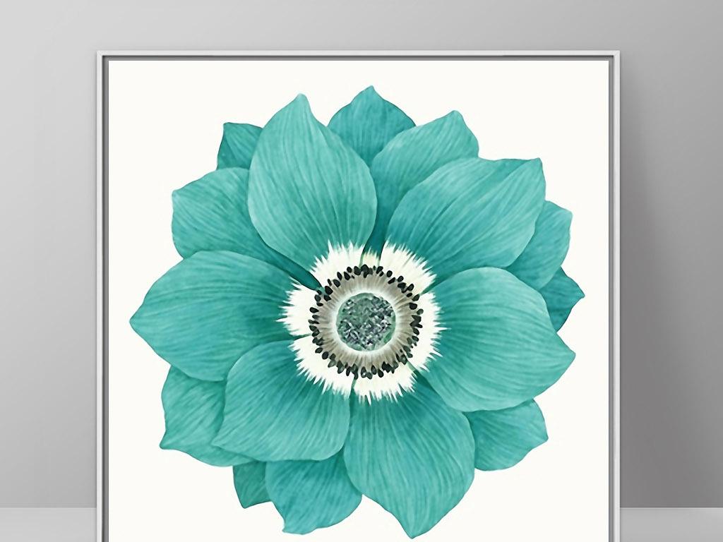 美丽的花儿欧式手绘花卉北欧现代家居装饰画