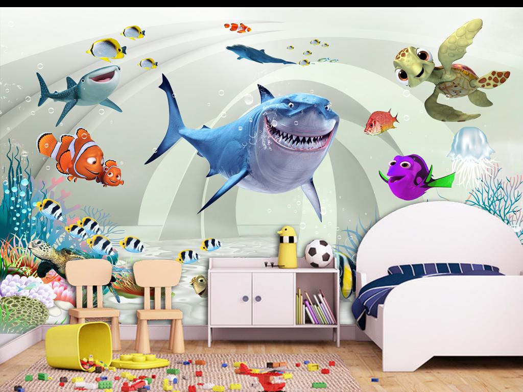 3d卡通唯美儿童房壁画