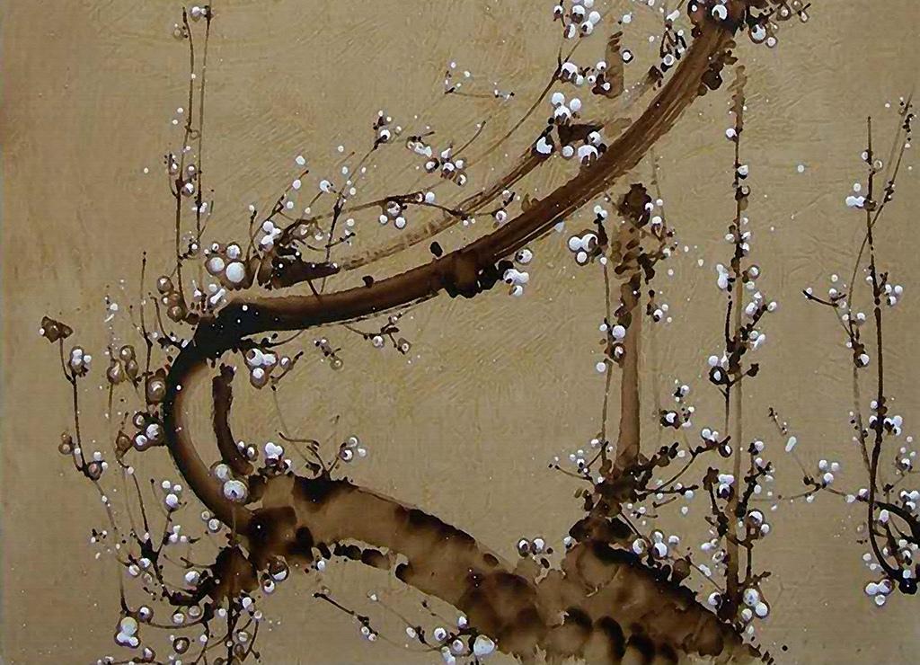 高清复古水墨梅花背景墙(图片编号:15971792)_中式墙图片