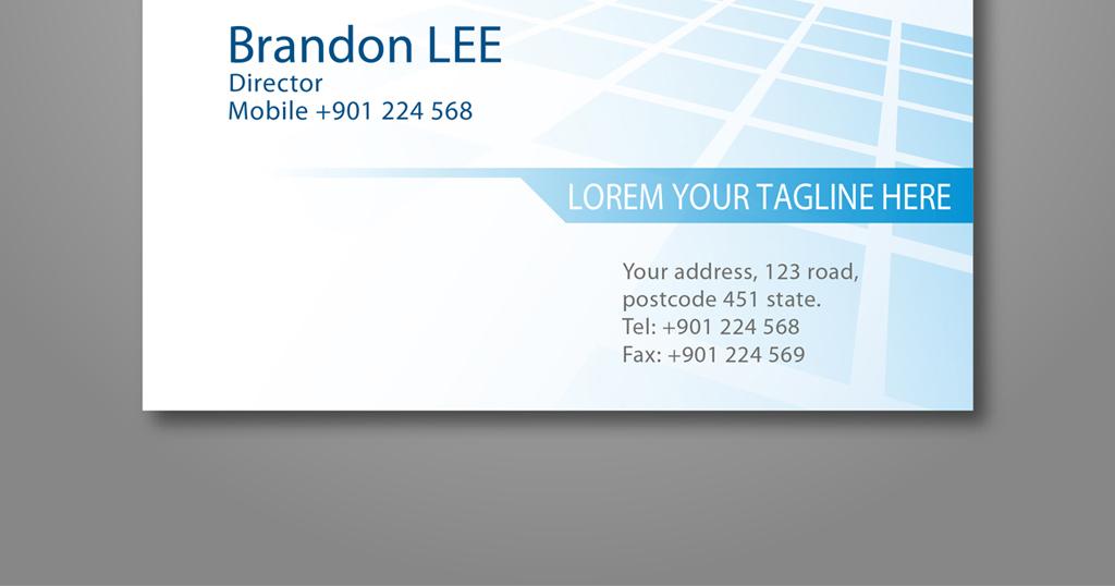 经典蓝色商务商业名片模板