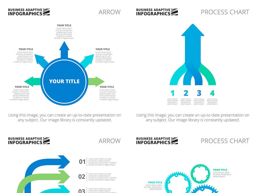 时尚简洁商业统计PPT矢量信息图表