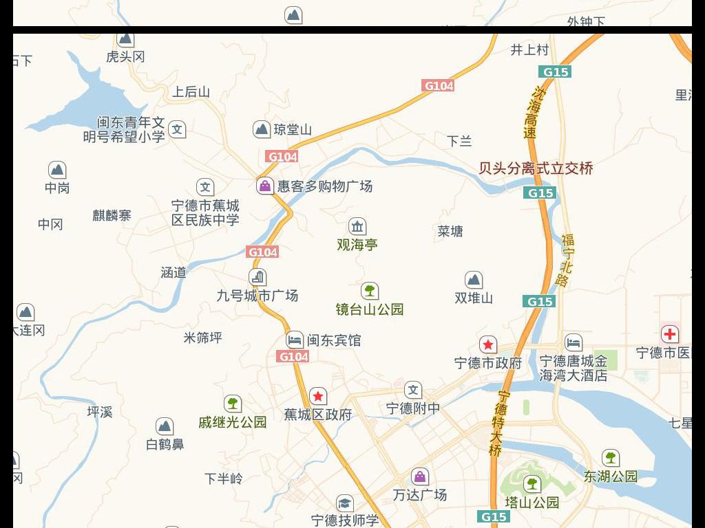 高清宁德市电子地图图片素材下载