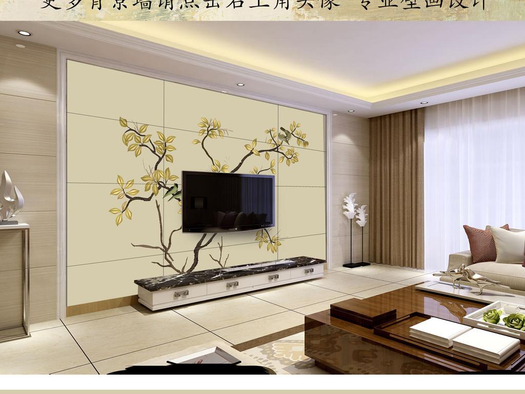 背景墙|装饰画 电视背景墙 手绘电视背景墙 > 欧式手绘中式花鸟背景墙