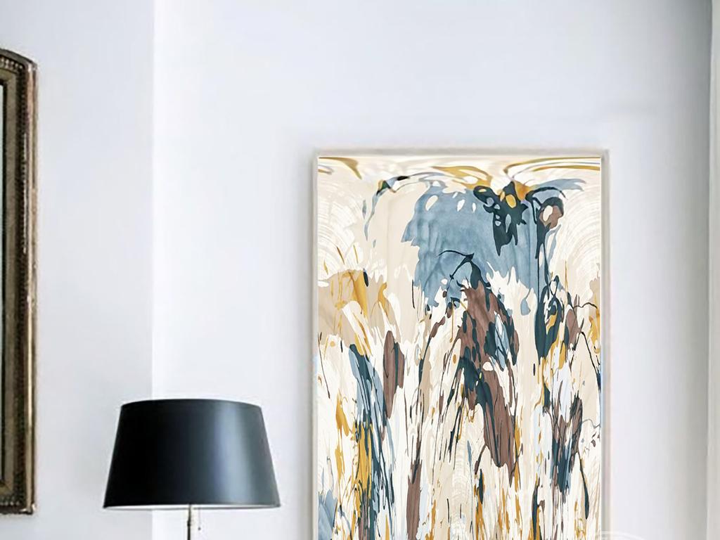 现代简约手绘抽象渐变色图案背景无框装饰画