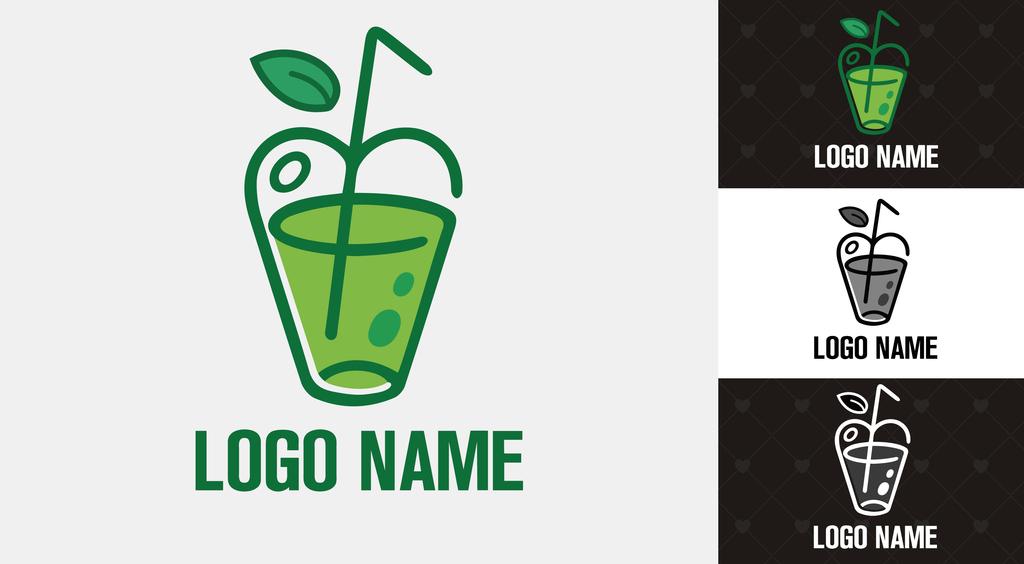 绿色餐饮食品饮品店铺logo标志创意设计图片