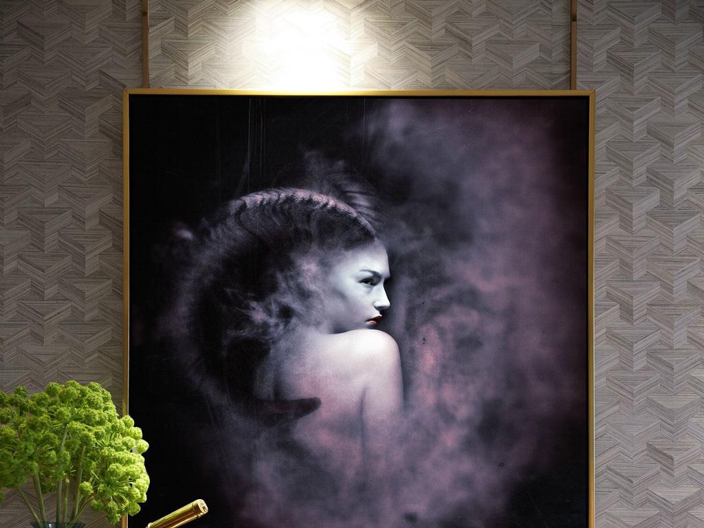 超现实幻想唯美简约美女创意背影装饰画