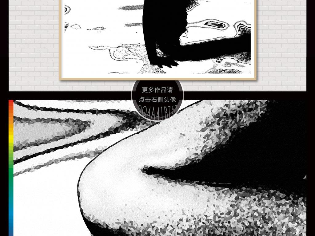 手绘插画时尚诱惑性感色情素描艺术高清欧式复古黑白