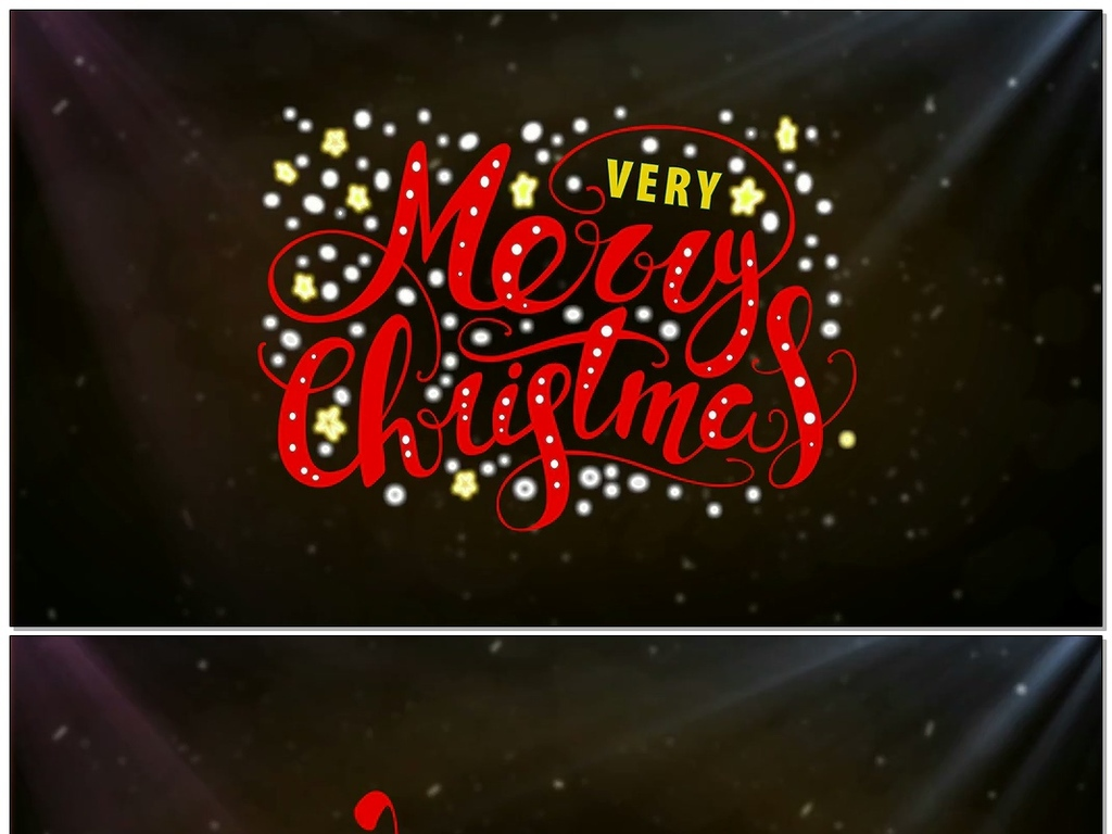 流行圣诞文字标题动画ae模板素材下载,作品模板源文件可以编辑替换,设