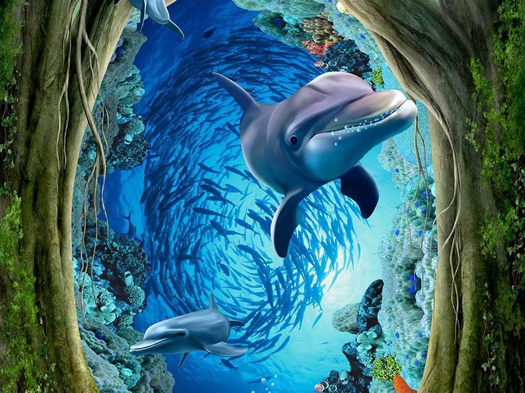 手绘3d立体画海洋