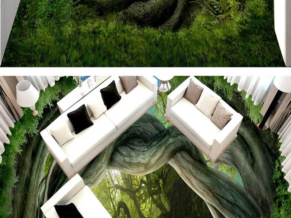 梦幻森林动物世界地画