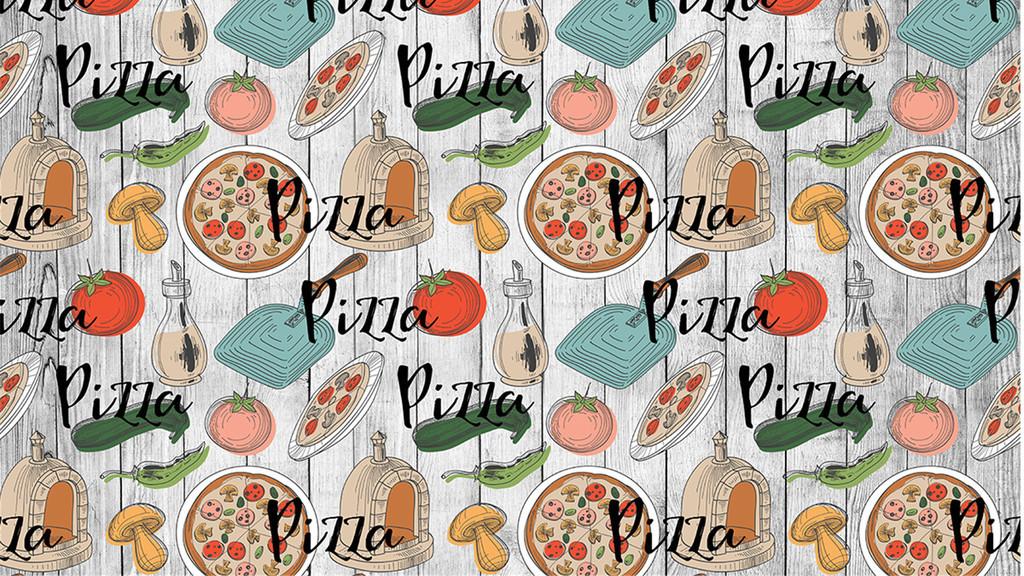 卡通手绘美味披萨