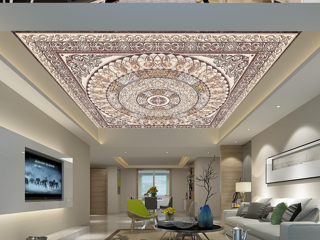 吊顶古典欧式欧式花边欧式建筑欧式风格欧式花纹墙纸欧式背景欧式油画图片