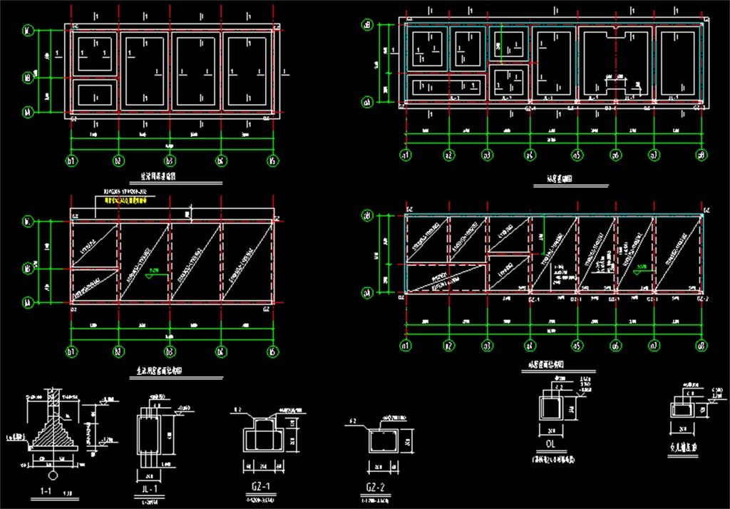 cad图库 室内设计cad图库 cad图纸 > 加油站建筑cad结构图  版权图片