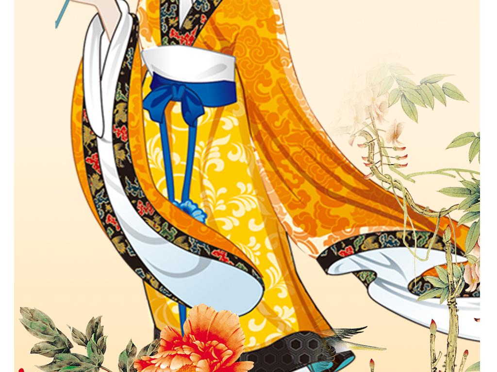 古代美女玄关背景墙(图片编号:15979023)_中式玄关_我