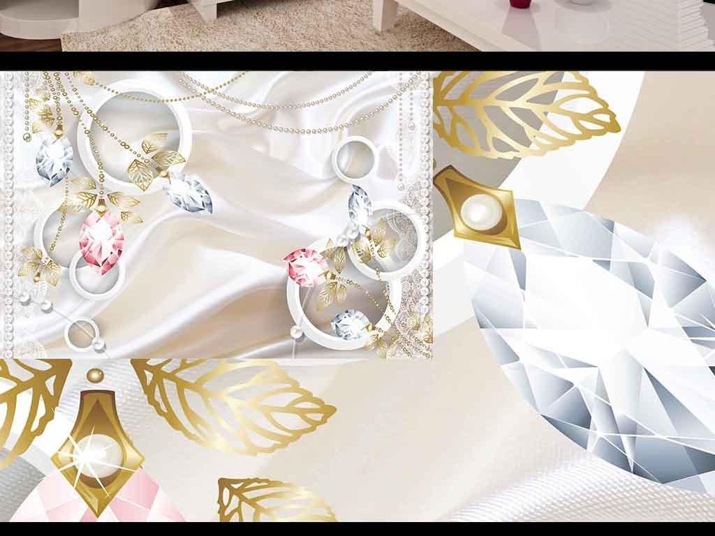水晶钻石花朵唯美欧式电视背景墙
