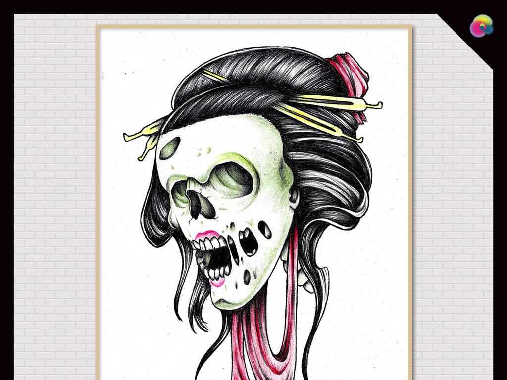 手绘玫瑰花美女装饰画纹身图片龙纹身图案大全龙纹身