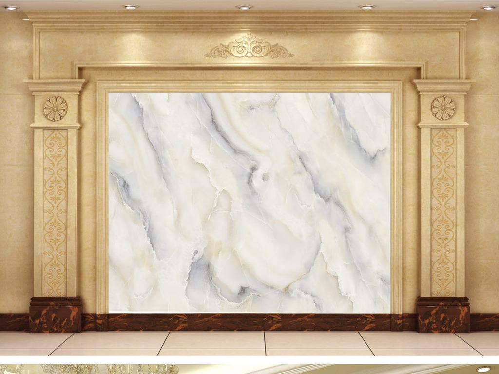 大理石纹欧式简约现代玉石电视背景墙