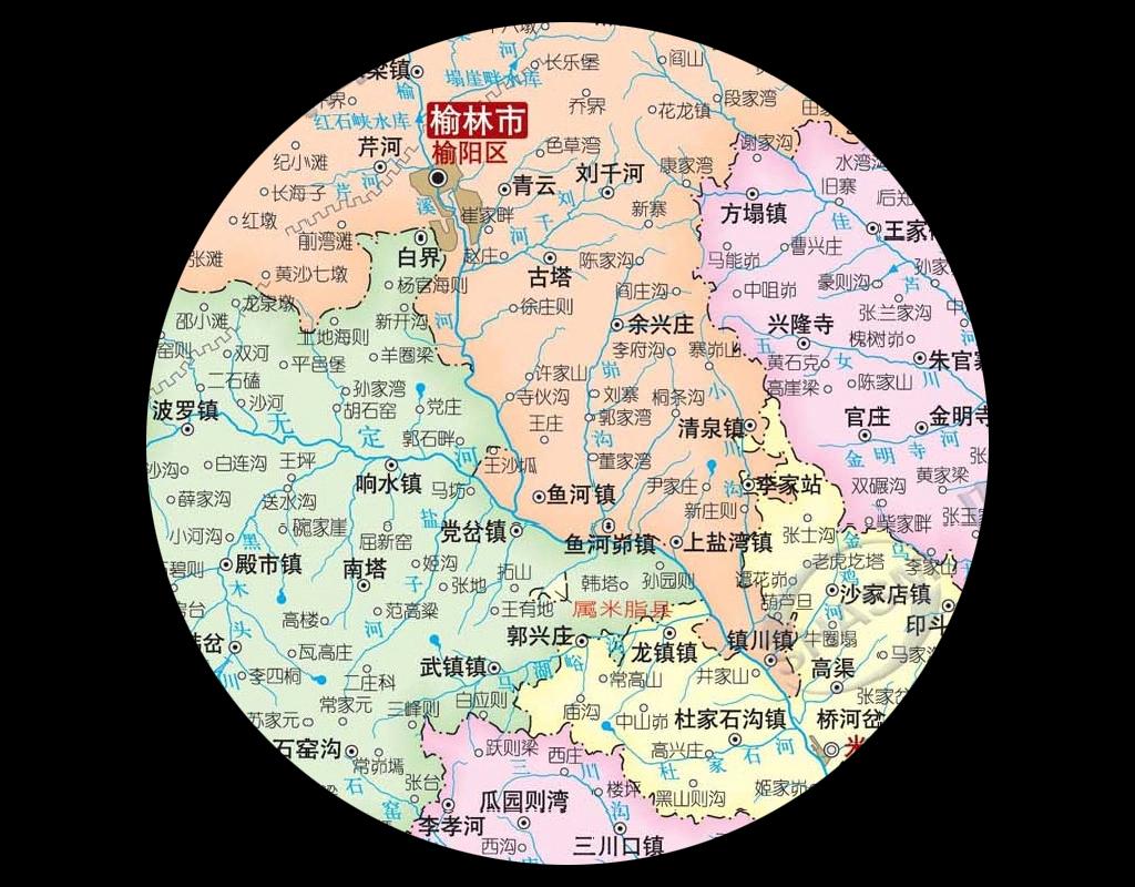 榆林市地图高清大图
