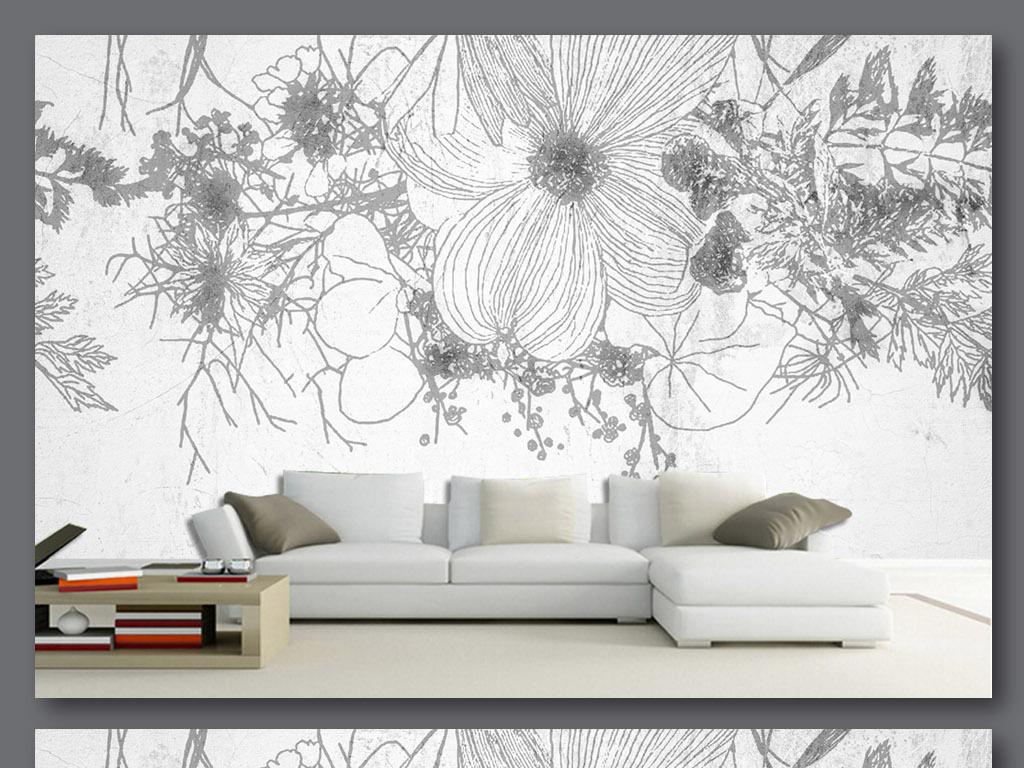 花背景花纹手绘背景素材鲜花背景底纹背景手绘鲜花设计底纹花卉电视