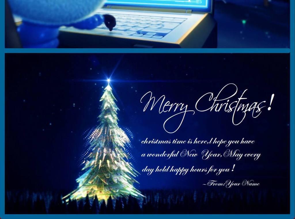 创意圣诞祝福电子贺卡flash动画