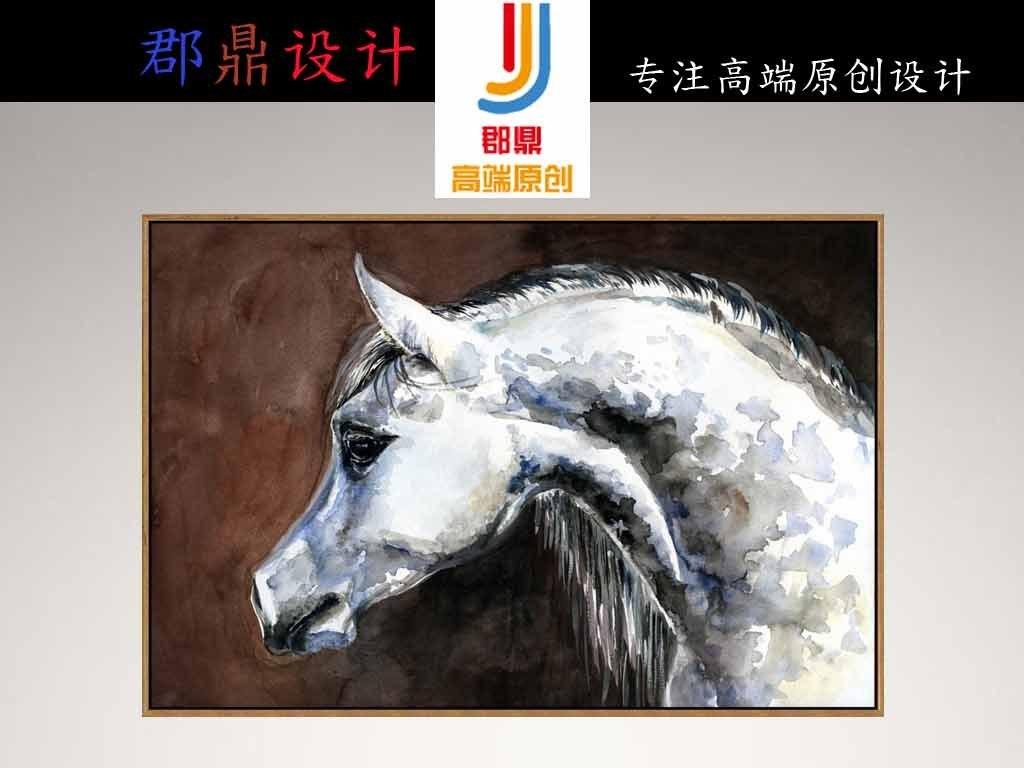 背景墙|装饰画 无框画 动物图案无框画 > 壁画雕纹雕刻白色骏马背景墙