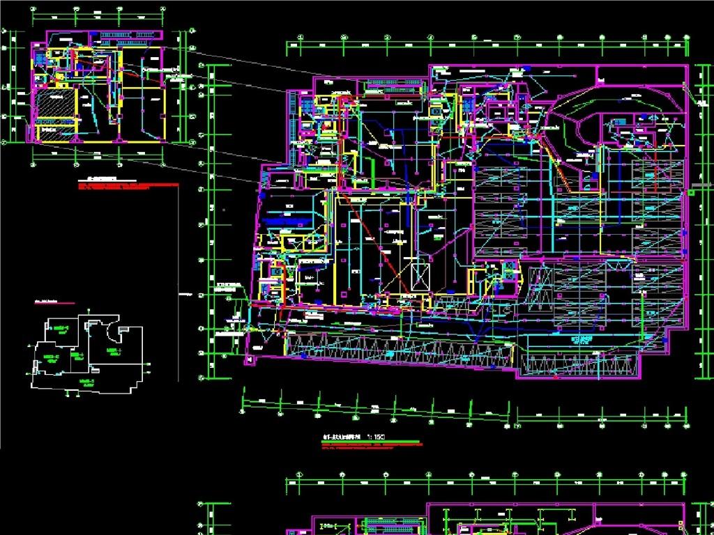 某酒店电路设计全套施工图cad