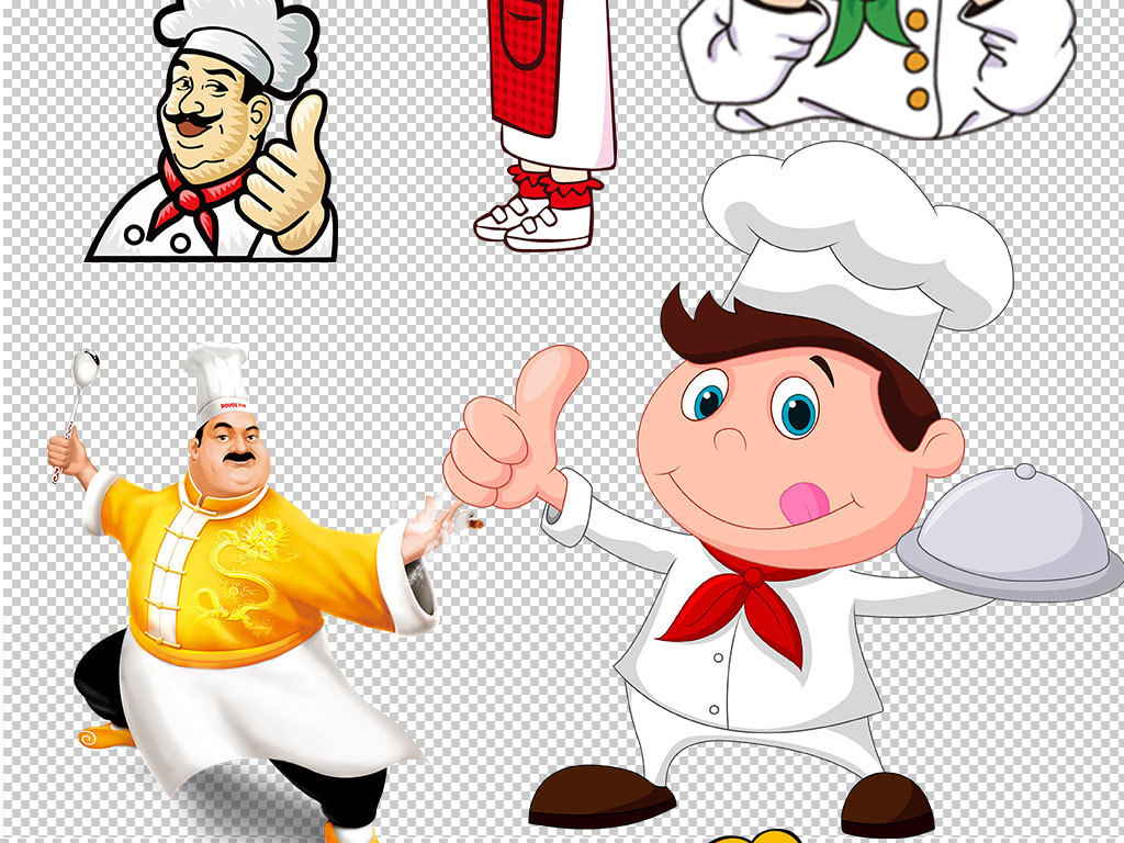 厨师简笔画带颜色