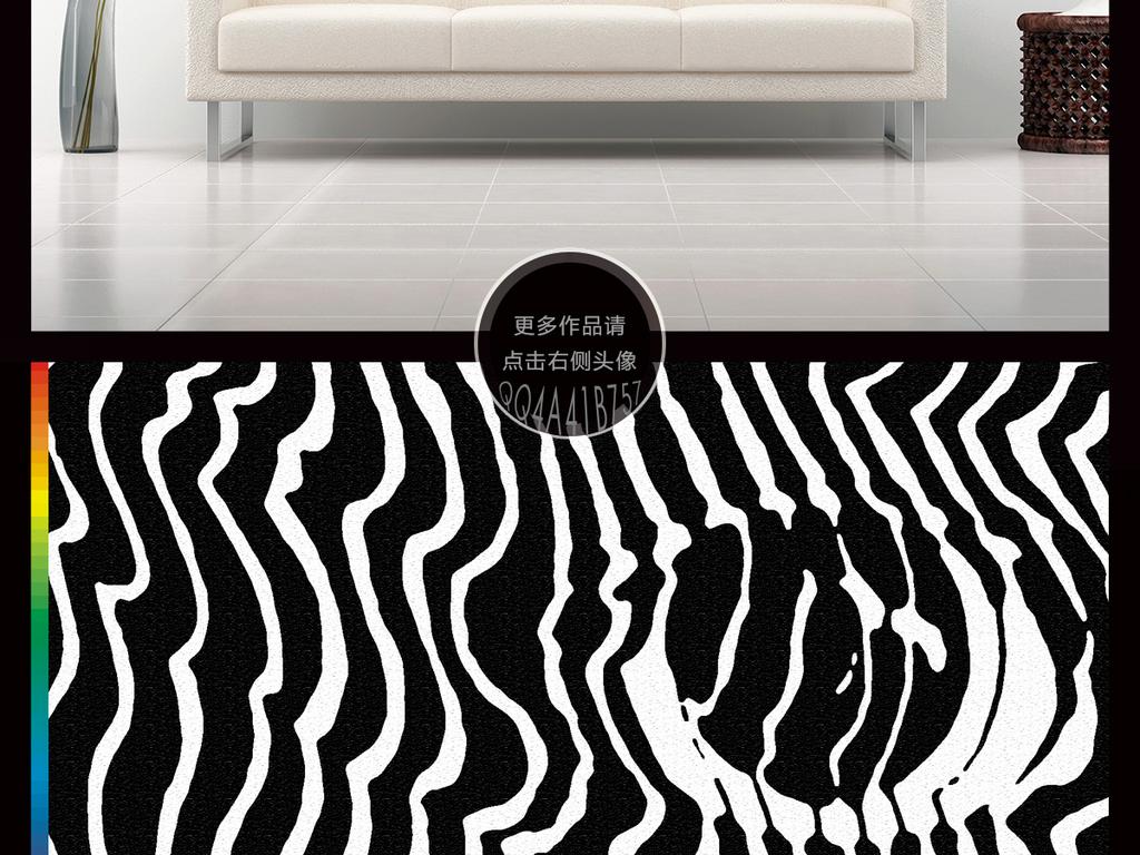 黑白简单手绘森林