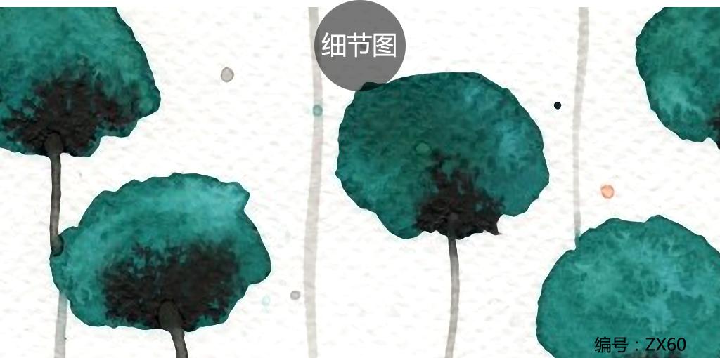 北欧简约手绘小清新田园花卉水彩画装饰画