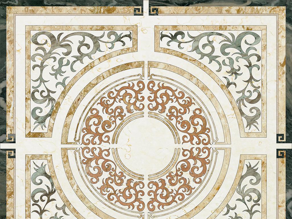 欧式长方形水刀拼花大理石瓷砖石材贴图5图片