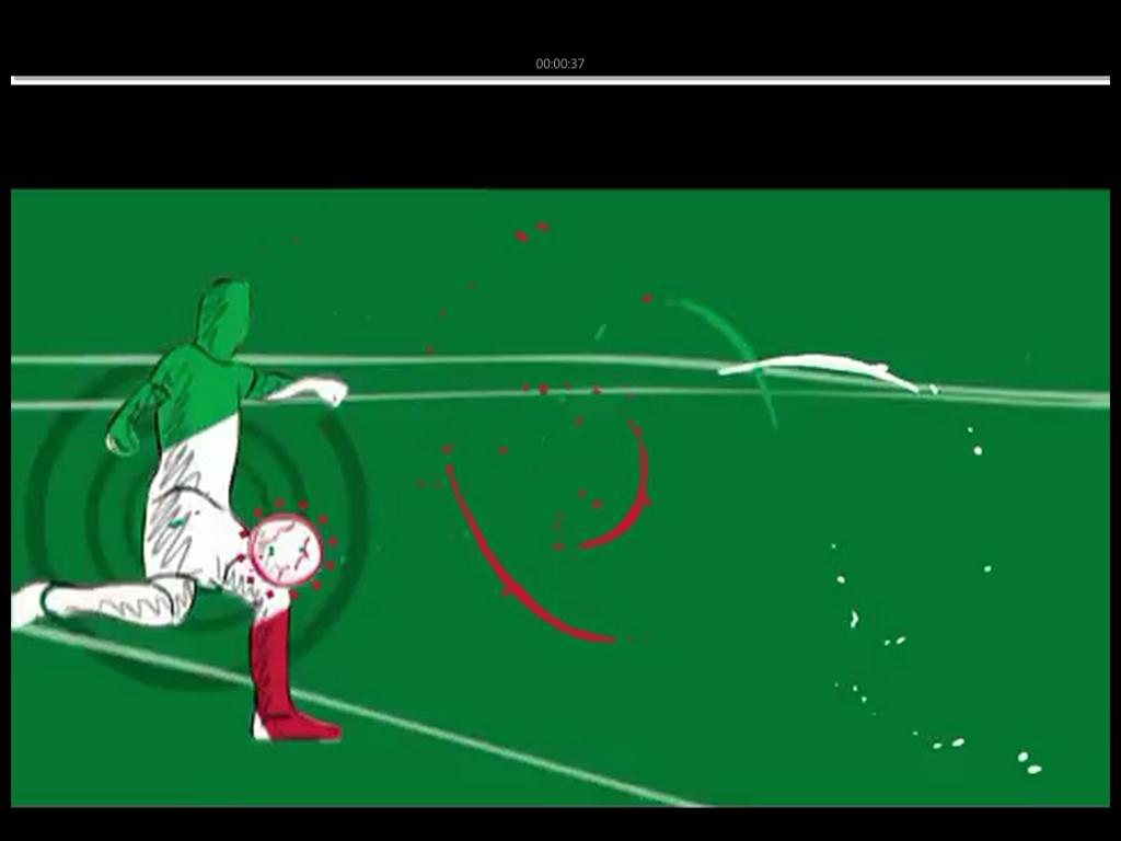 手绘漫画风格的足球节目开场片头ae模板