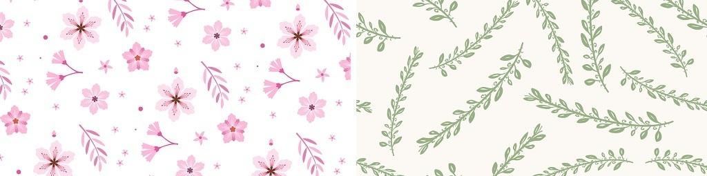 唯美花卉叶子矢量装饰背景图片