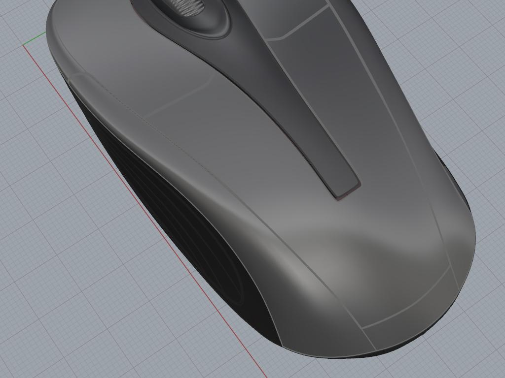鼠标3d犀牛模型
