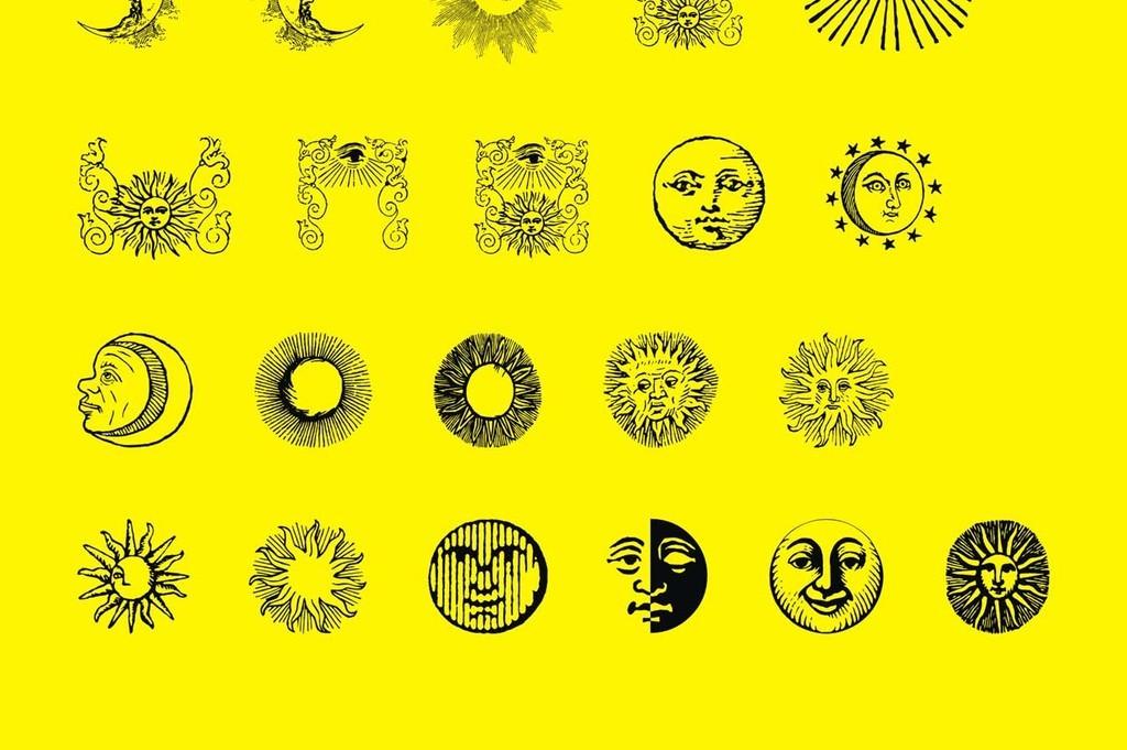 搞怪太阳卡通矢量素材太阳笑脸