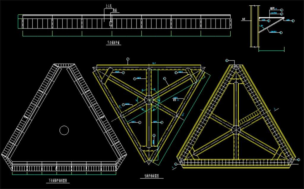 广告牌cad结构设计图