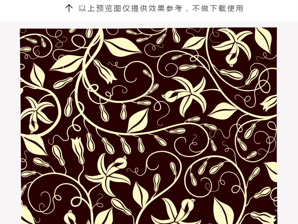 手绘简约曲线叶子抱枕图案