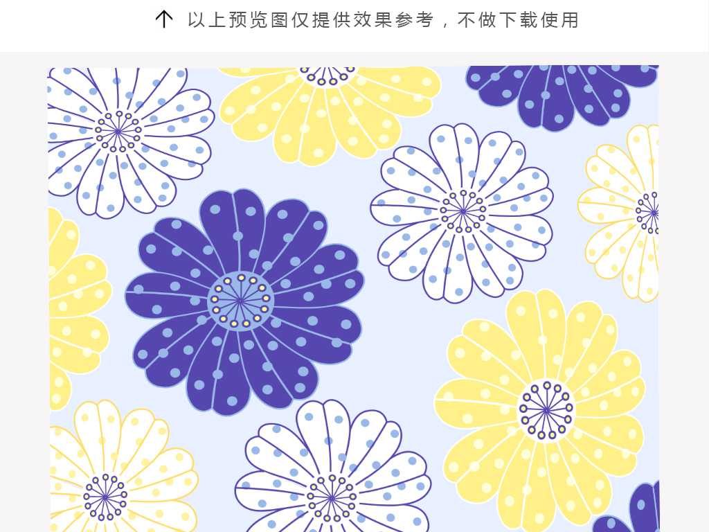简约青色手绘花朵抱枕图案