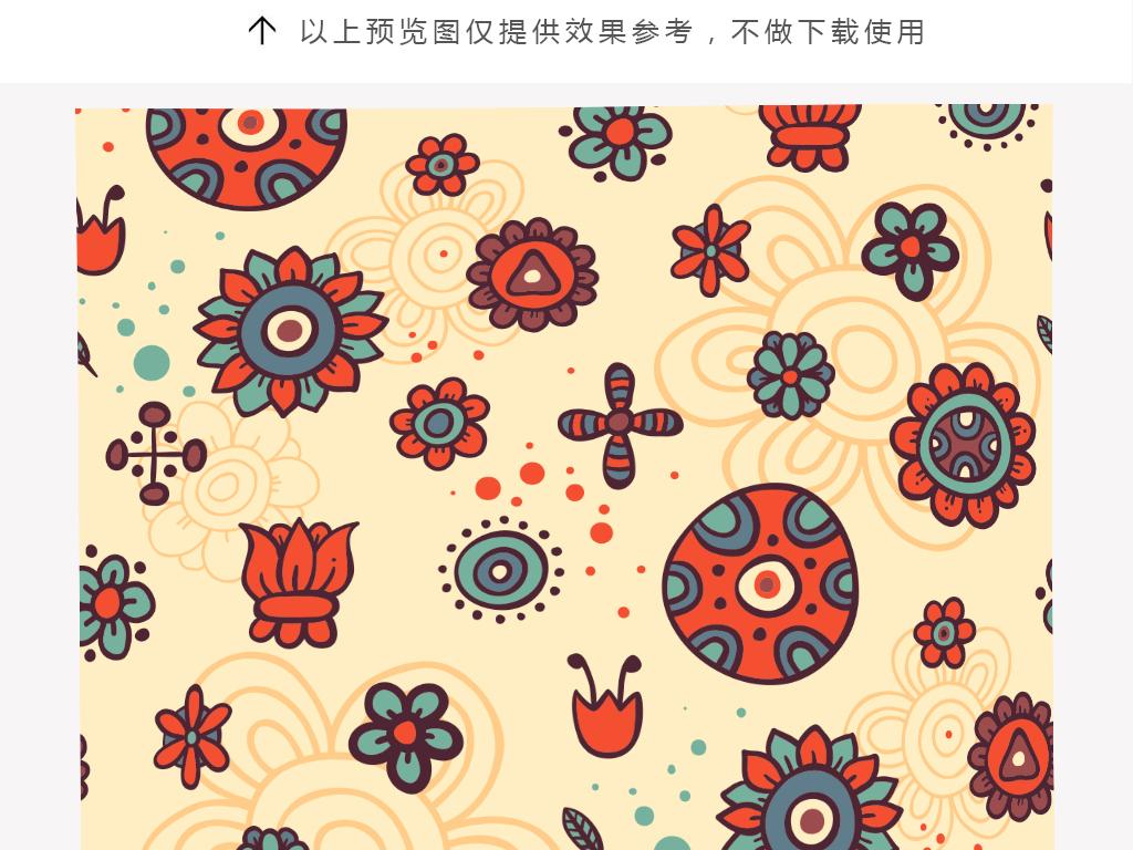 时尚线稿手绘花朵抱枕设计图片_高清 矢量图素材下载