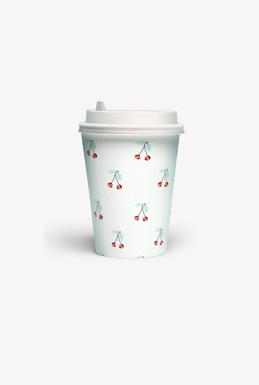 小清晰樱桃图案设计植物卡通