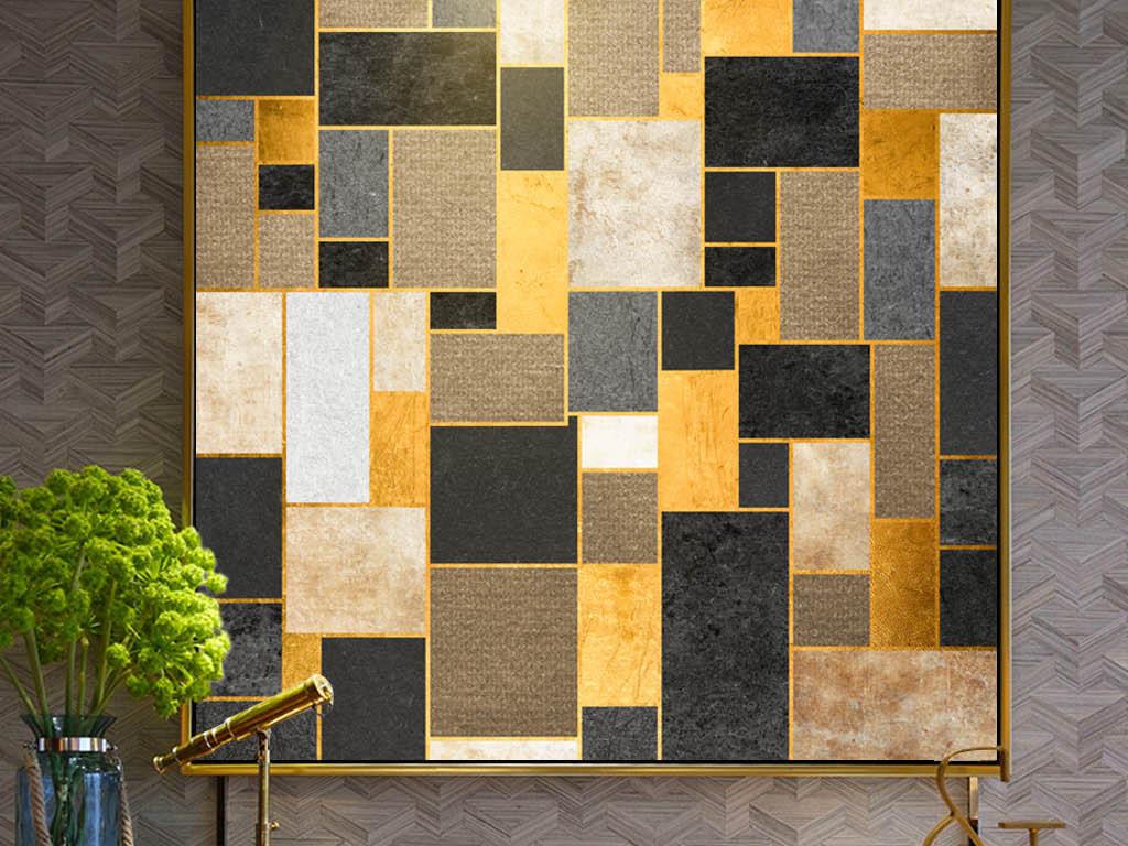 有框画无框画极简黑白装饰画餐厅挂画卧室画抽象创意单幅装饰画咖图片
