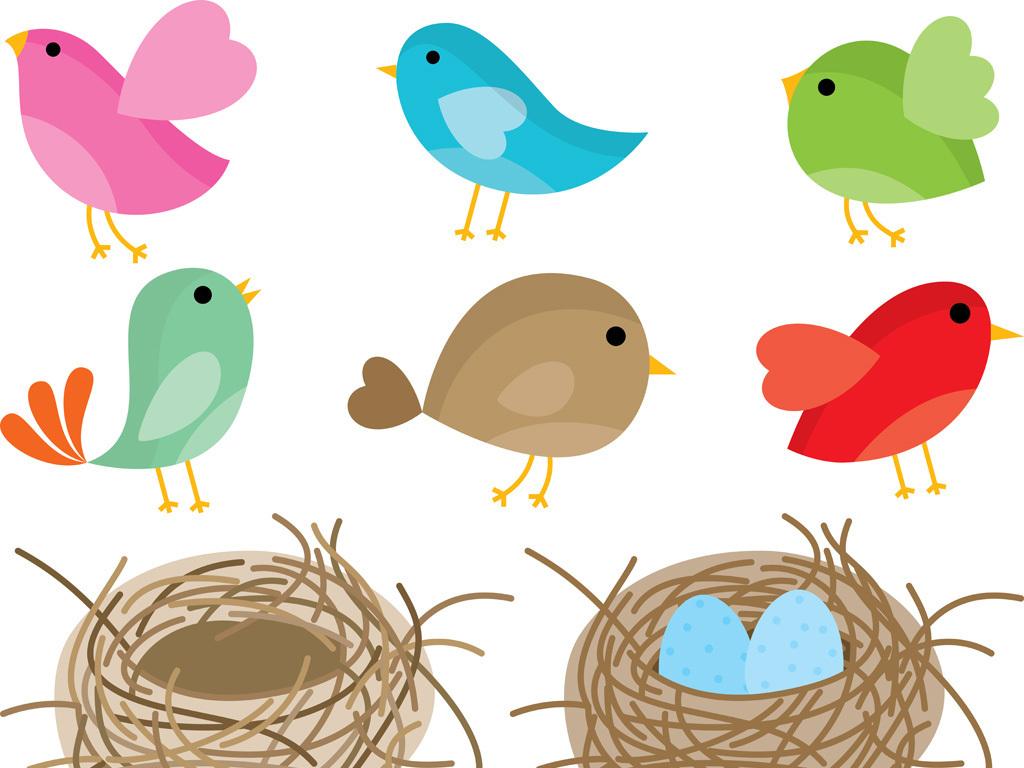 可爱卡通小鸟卡通素材(图片编号:15988037)