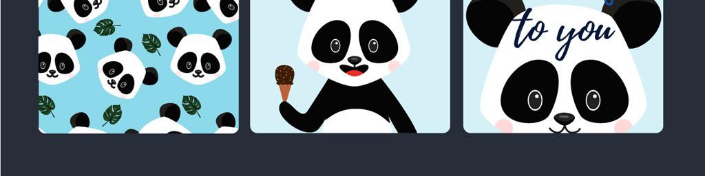 我图网提供精品流行可爱卡通小动物卡通熊猫素材下载,作品模板源文件可以编辑替换,设计作品简介: 可爱卡通小动物卡通熊猫素材 矢量图, CMYK格式高清大图,使用软件为 Illustrator CS2(.ai) 卡通