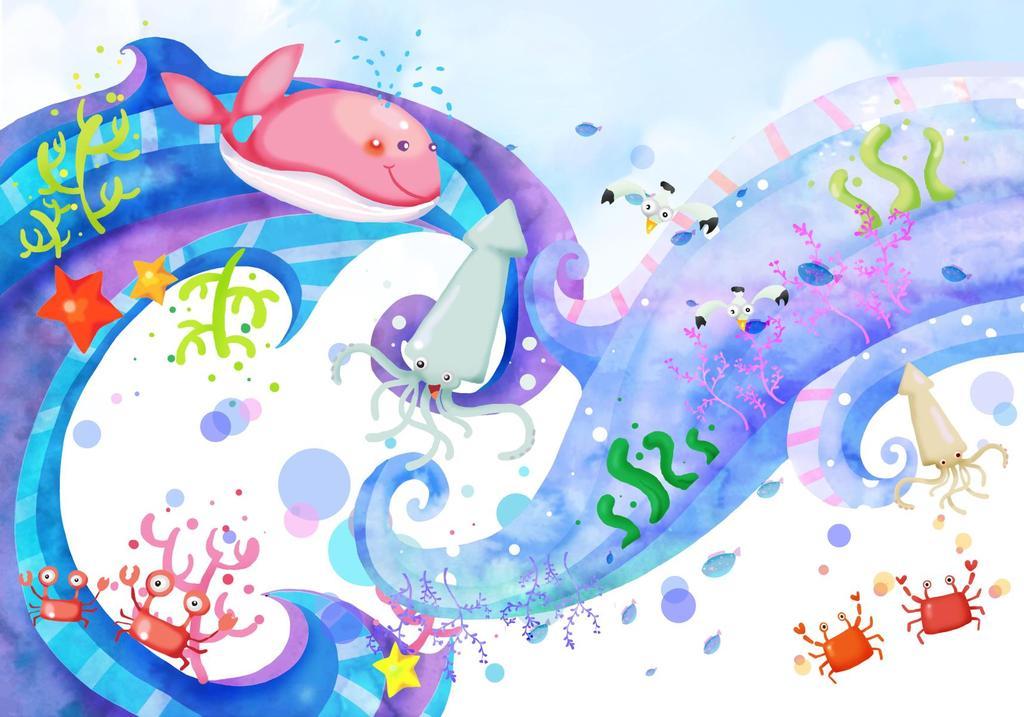 保护海洋招贴画
